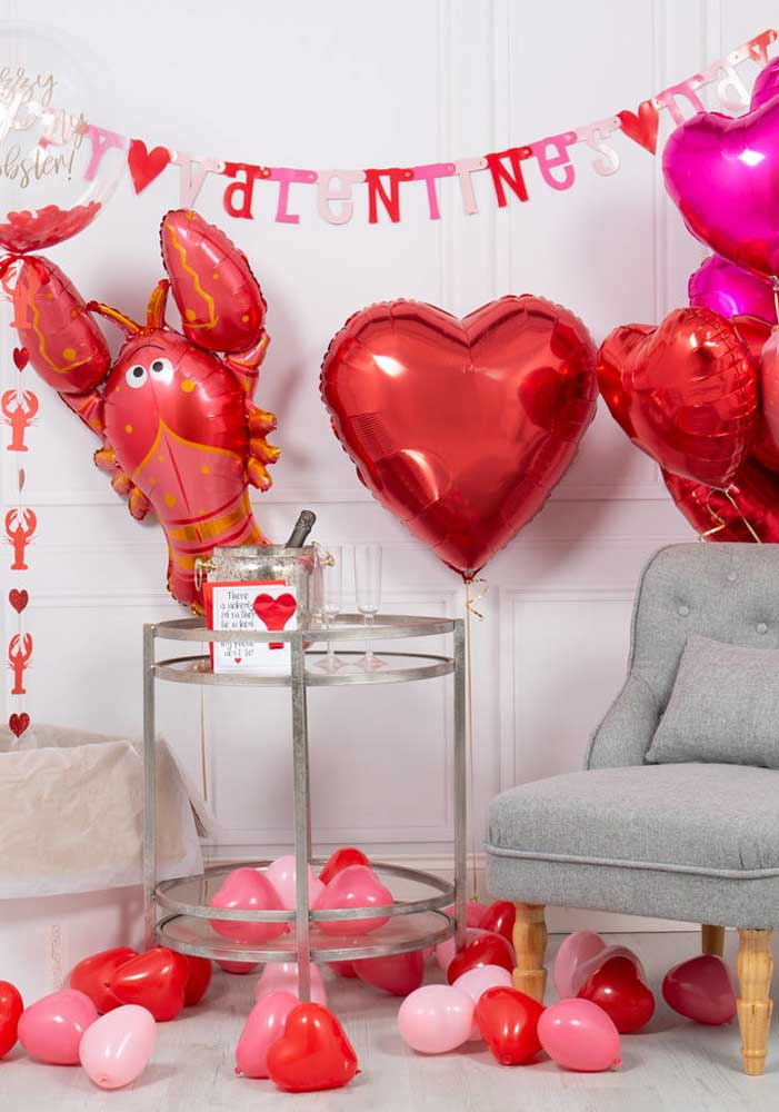 O que acha de fazer uma surpresa dia dos namorados com balões?