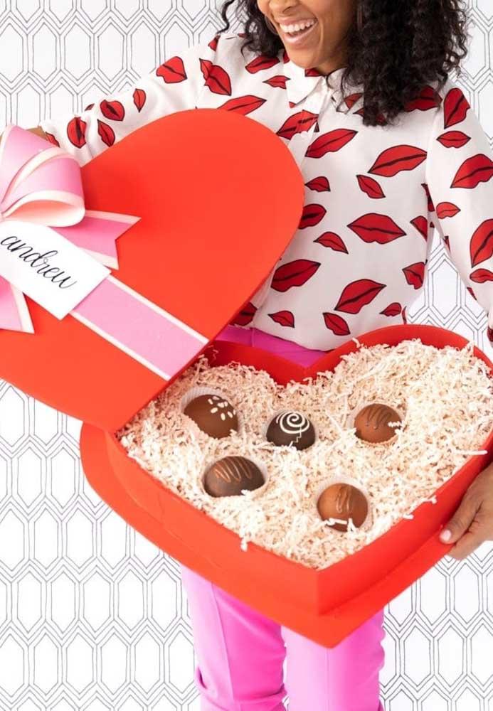 Quem é que resiste aos bombons de chocolate?