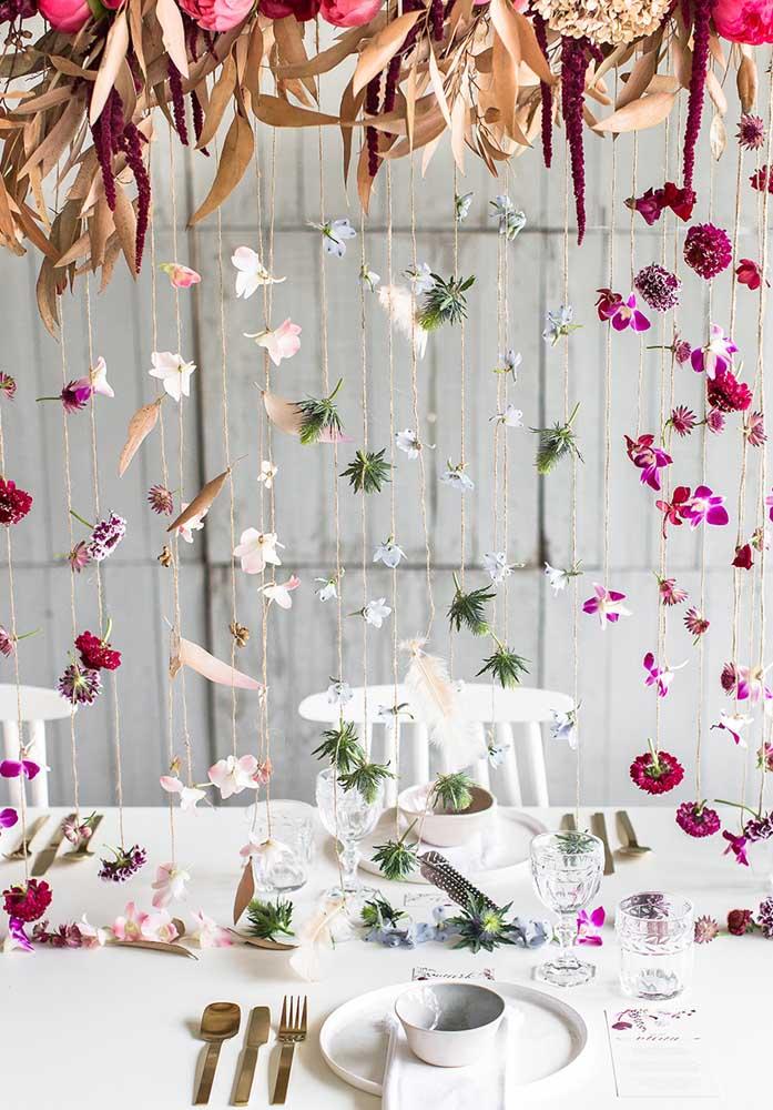 Faça uma decoração bem delicada e romântica no dia dos namorados.
