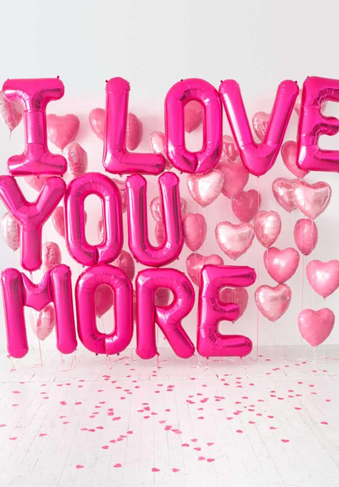 Declare seu amor em forma de balões.