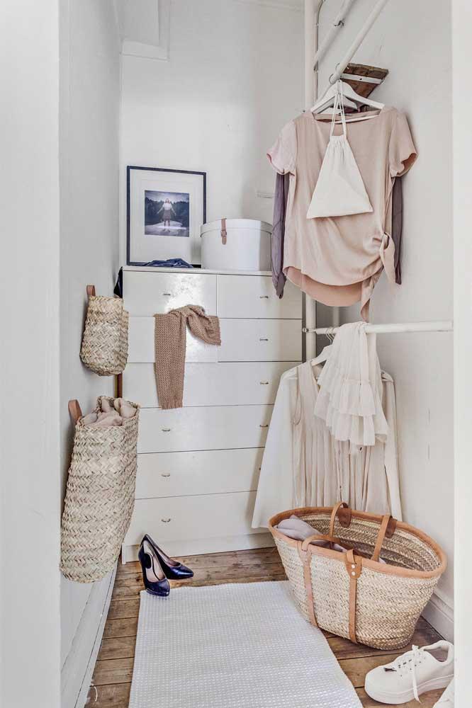 Procure manter sempre organizado o seu armário cápsula.