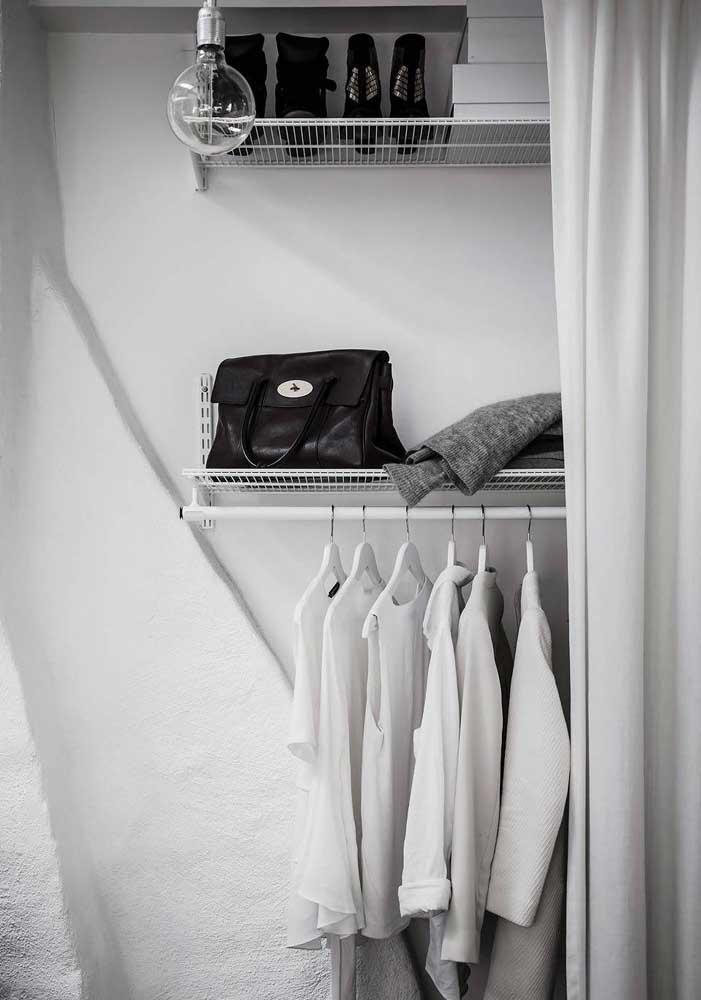 Que tal fazer um armário cápsula todo branco?