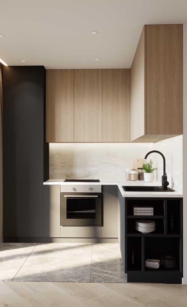 Fotos de armário de cozinha planejado deixa qualquer um com vontade de fazer um.