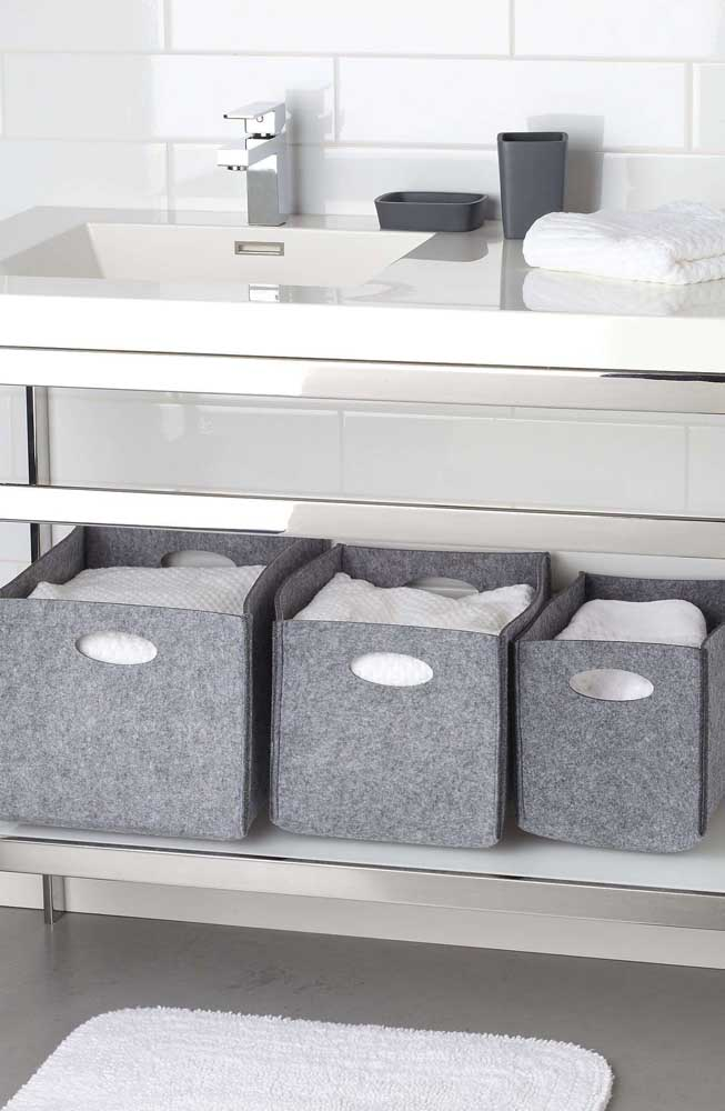 Essas caixas organizadoras são perfeitas para oferecer para as donas de casa.