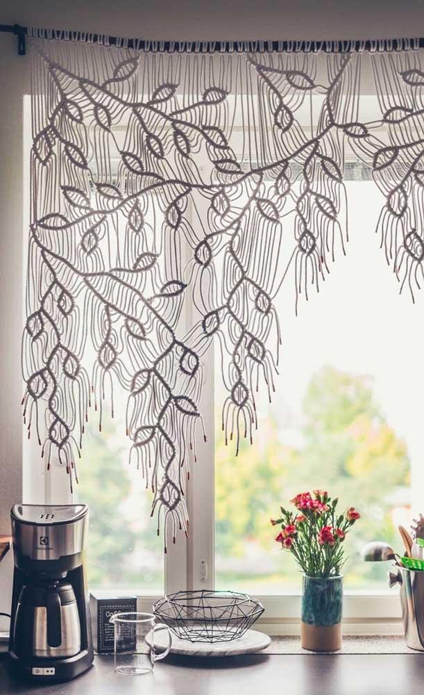 Sabia que é possível fazer uma cortina diferenciada como essa com técnicas artesanais?