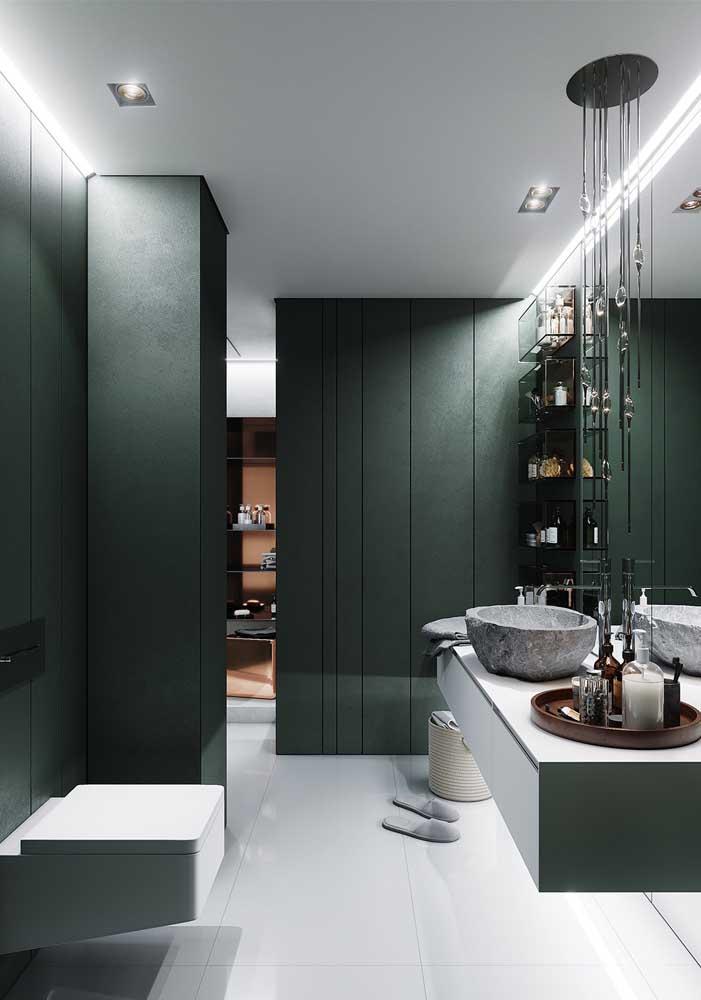 A cor verde é outra cor que deixa o ambiente mais luxuoso.