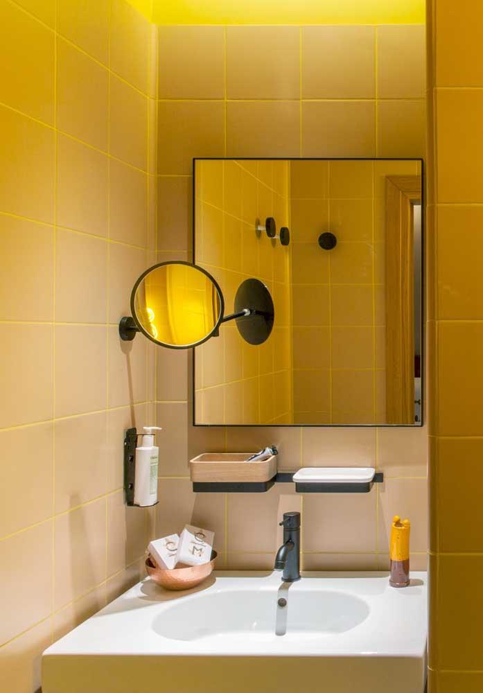 Que tal colocar um pouco de cor na decoração do seu banheiro?