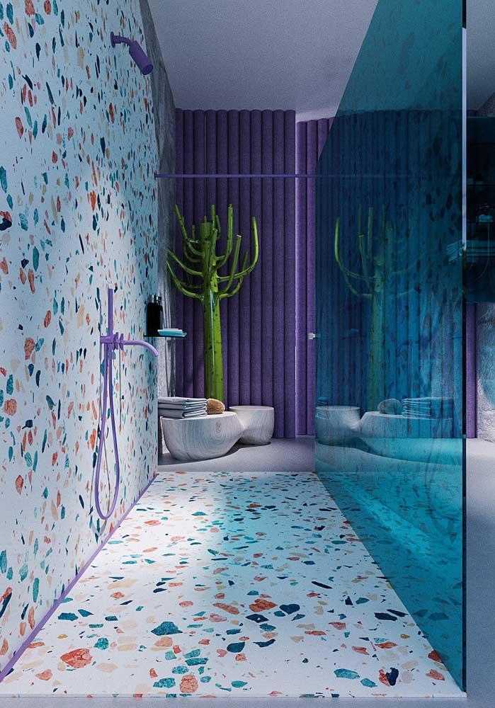Você pode fazer um banheiro totalmente temático.
