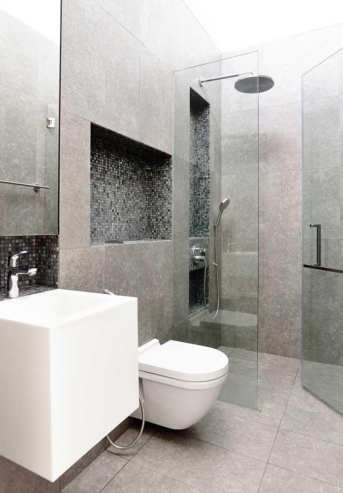 Aposte em cores neutras na hora de decorar seu banheiro.