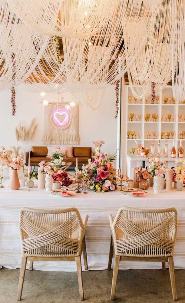Que linda inspiração de festa de bodas de prata rústica!
