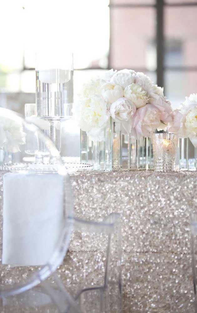 O vidro ganhou destaque nessa celebração de bodas de prata