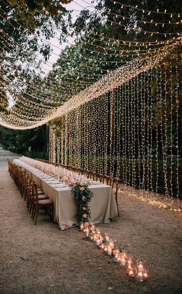 Que efeito incrível de luzes nessa decoração!
