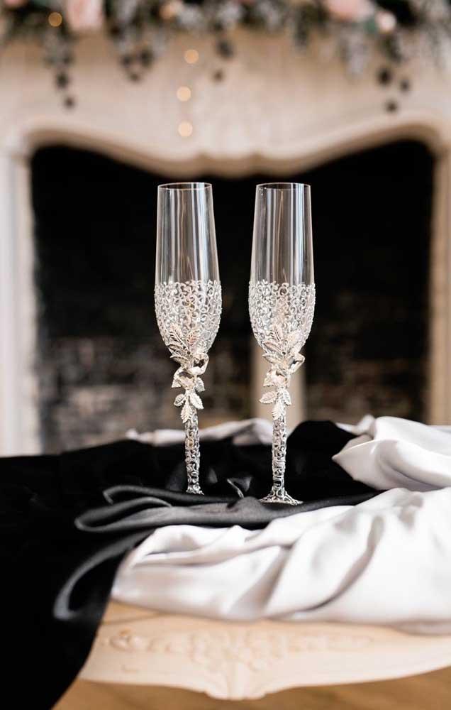 As taças do casal não poderiam ser mais bonitas!