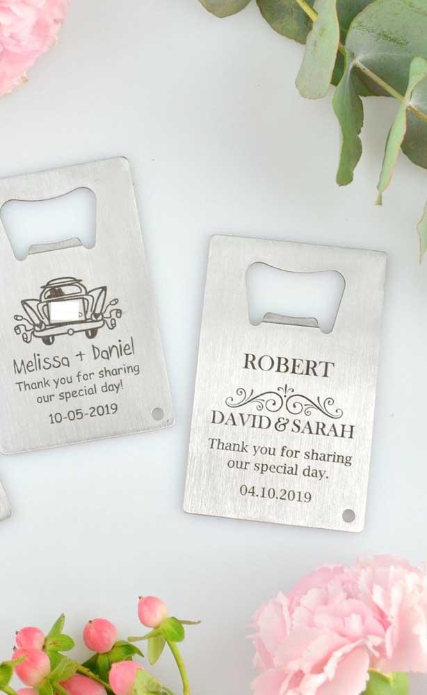 Opção de lembrancinha para as bodas de prata