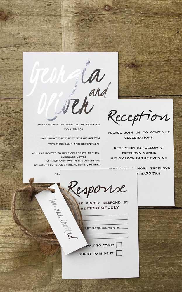 Modelo de convite para festa de bodas de prata