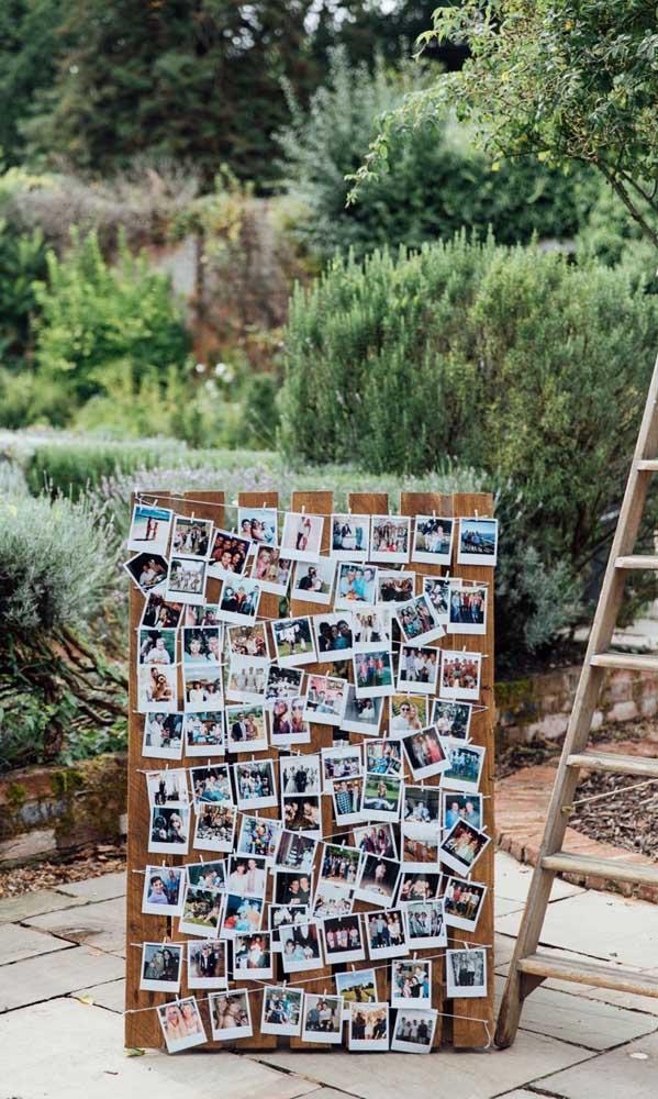 Varal de fotos para decorar e relembrar os bons momentos do casal
