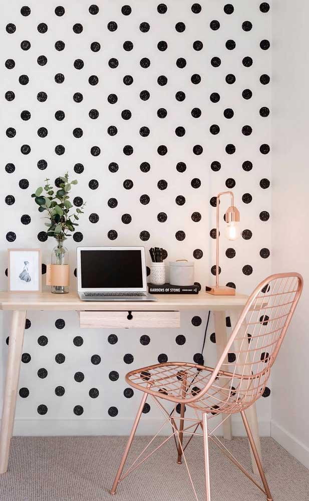 E um escritório mais delicado, moderno e sofisticado.