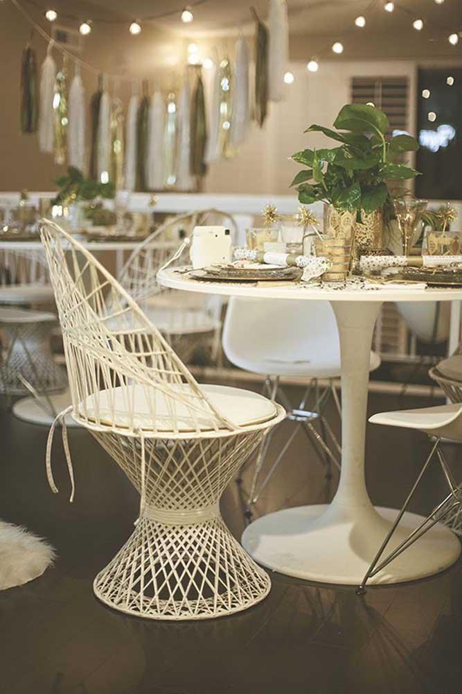 Capriche na escolha dos móveis e na decoração se você deseja fazer uma festa de ano novo mais sofisticada.