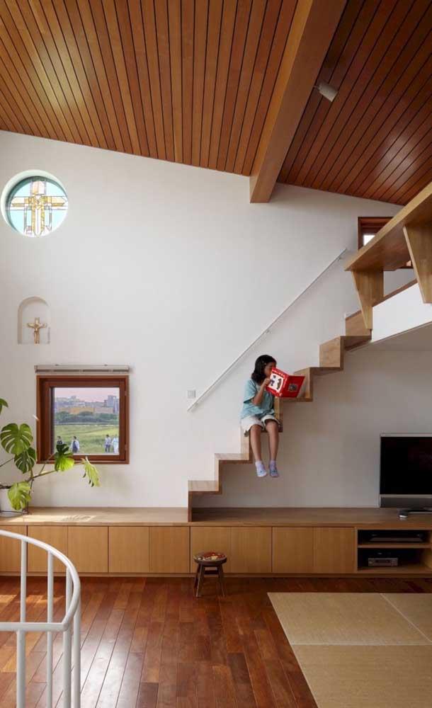 As crianças adoram aproveitar os espaços da casa.
