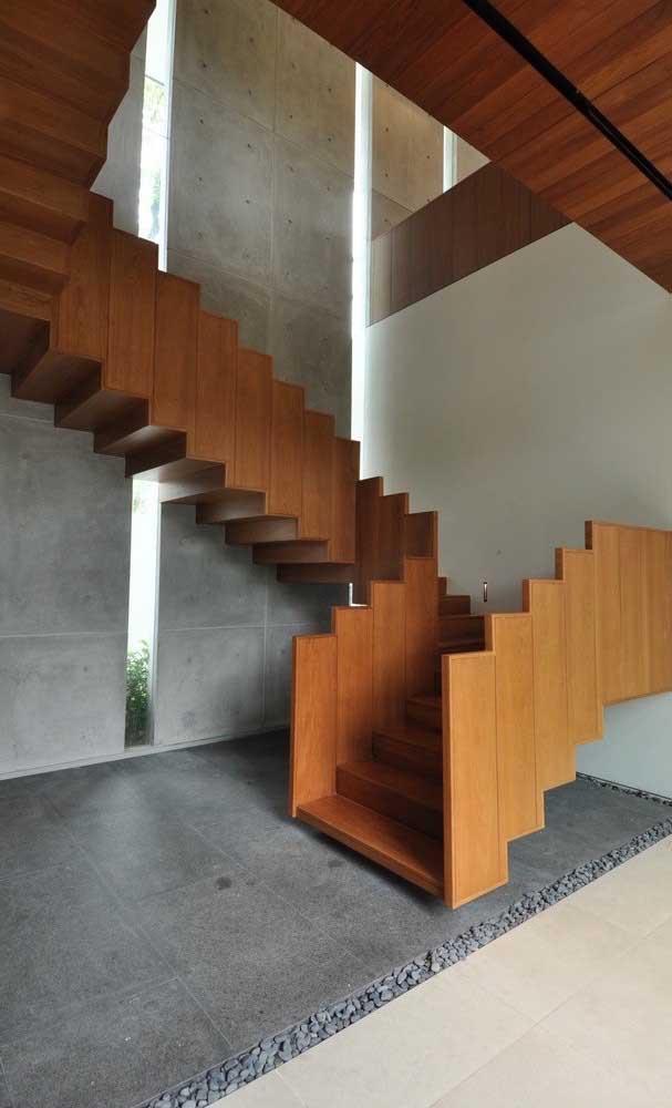 Olha que modelo de escada completamente diferenciada.