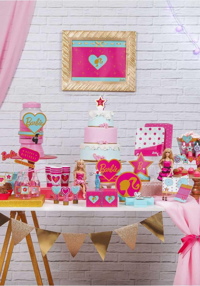 Faça uma festa Barbie simples e barata, mas não deixe de comemorar o aniversário da sua filha.