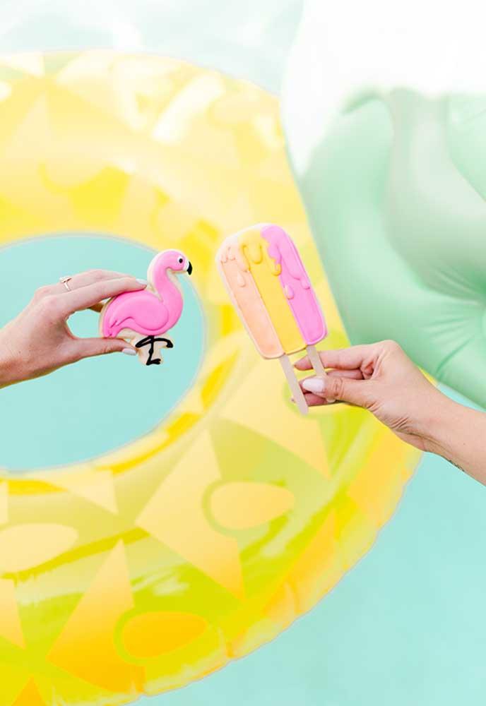 Que tal distribuir sorvete de palito para a criançada se refrescar na festa na pool party infantil?