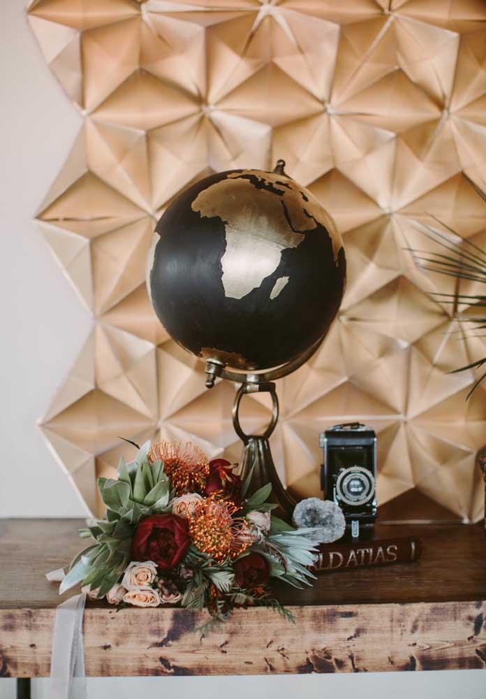 Um globo, uma câmera e um atlas: tudo que um aventureiro de safári gosta