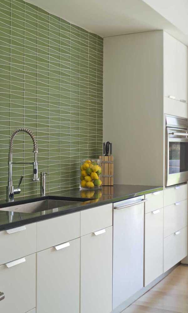 Mas fica super charmoso em áreas internas como a cozinha.