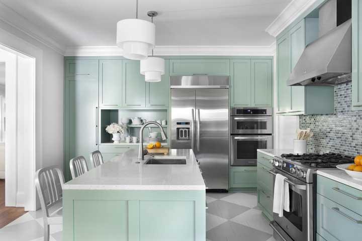 Já pensou em ter uma cozinha linda como essa?