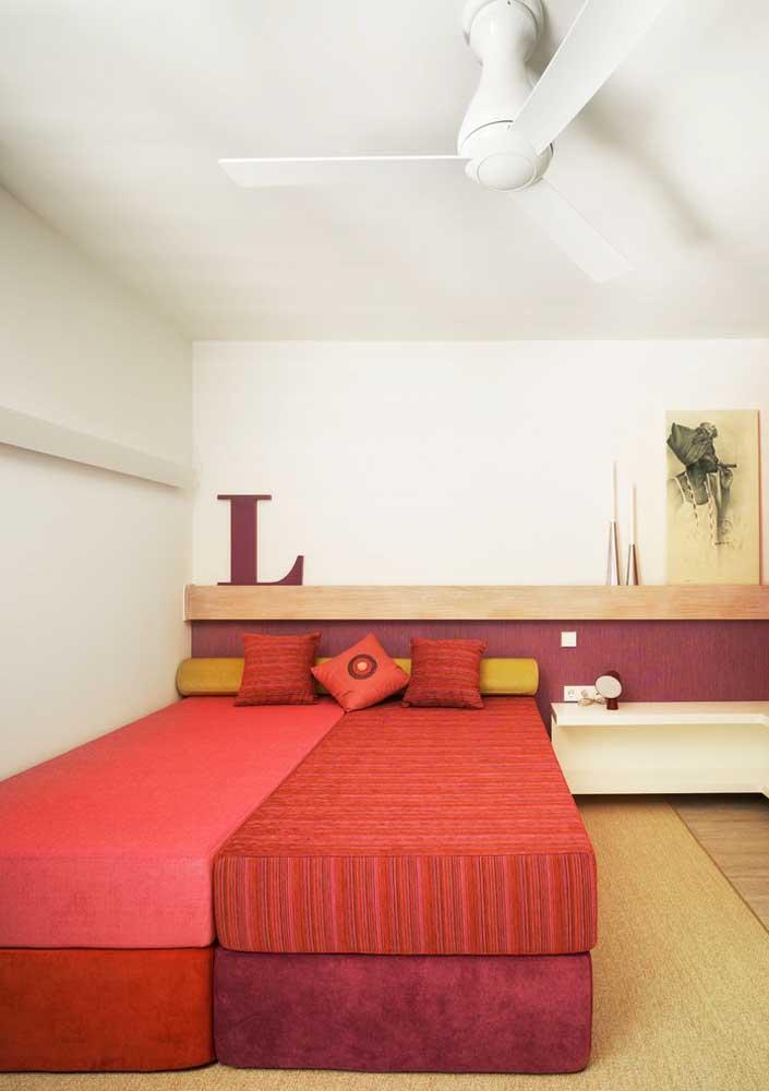 Já pensou na cor que você vai usar para combinar com a cor vermelha na decoração do seu quarto?