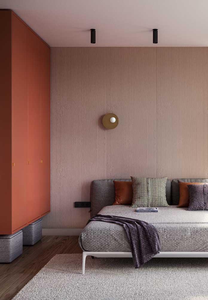 Quer ter um quarto sofisticado, fino e delicado? Invista em vários tons vermelho.