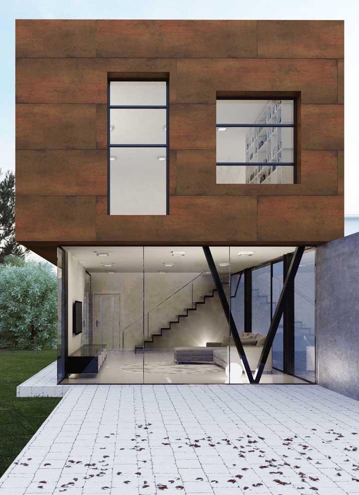 A fachada aço corten é uma das aplicações mais usadas na decoração externa.