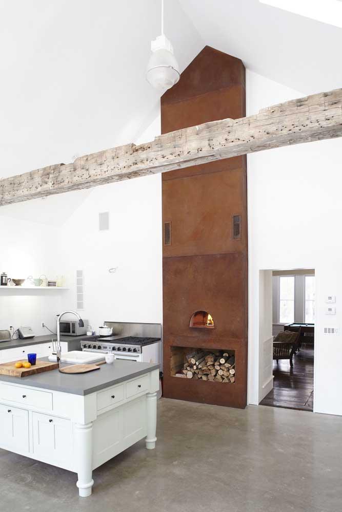O aço corten é uma ótima opção para churrasqueiras.
