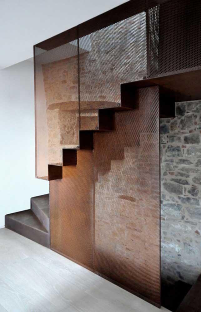 O aço corten pode ser a peça que faltava para encaixar na escada.