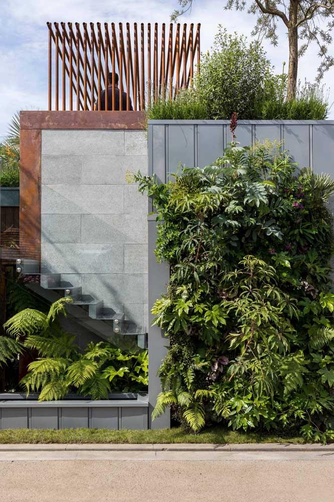 Use a criatividade para fazer estruturas incríveis com o aço corten.