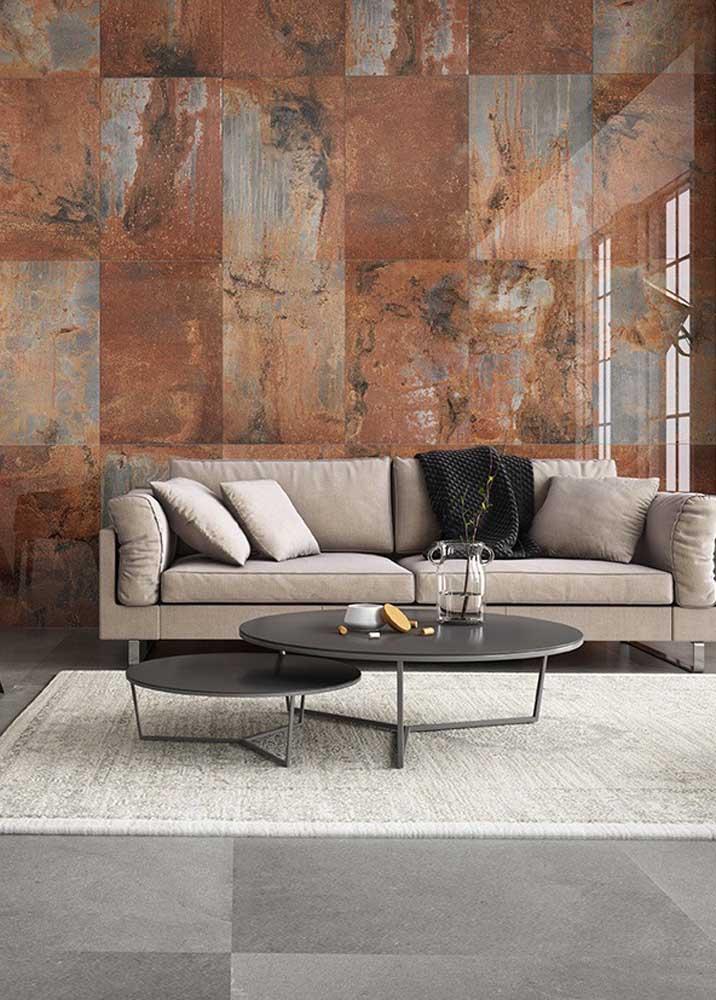 Quer ousar na decoração da sua casa? Aplique a textura aço corten.