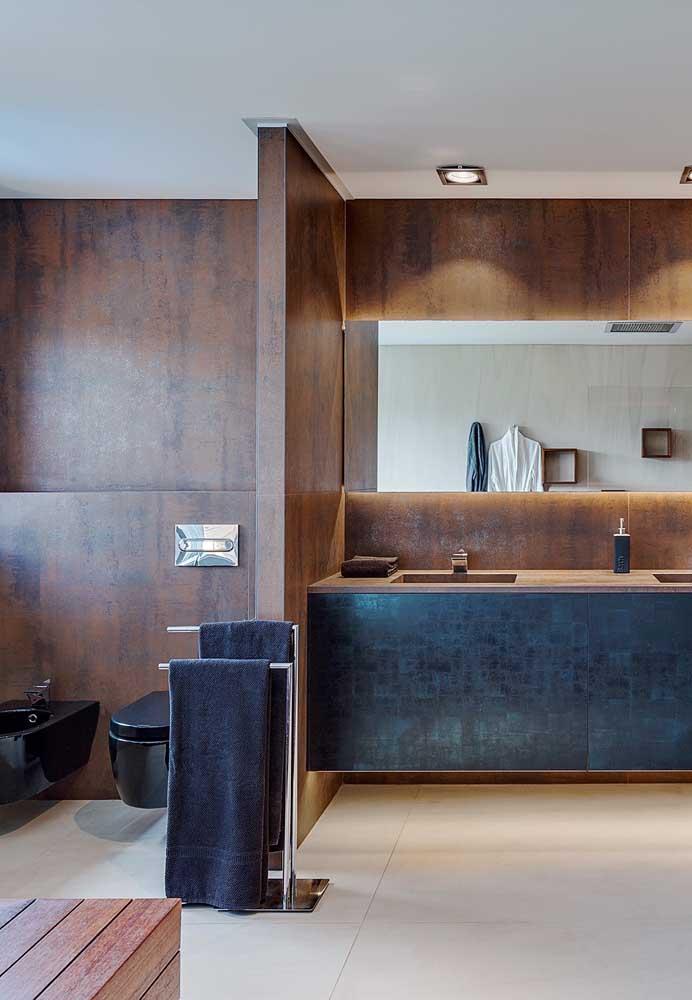 Incrível como o aço corten deixa qualquer ambiente mais elegante e sofisticado.