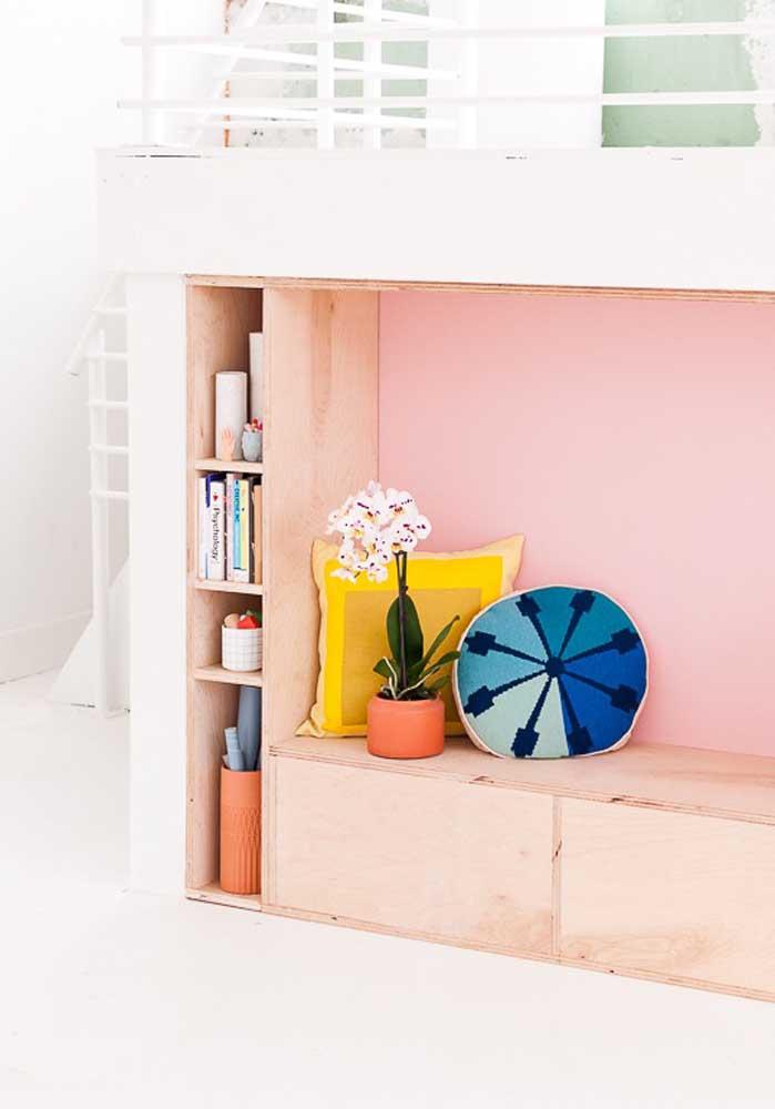 As almofadas coloridas podem ser usadas em vários ambientes da casa.