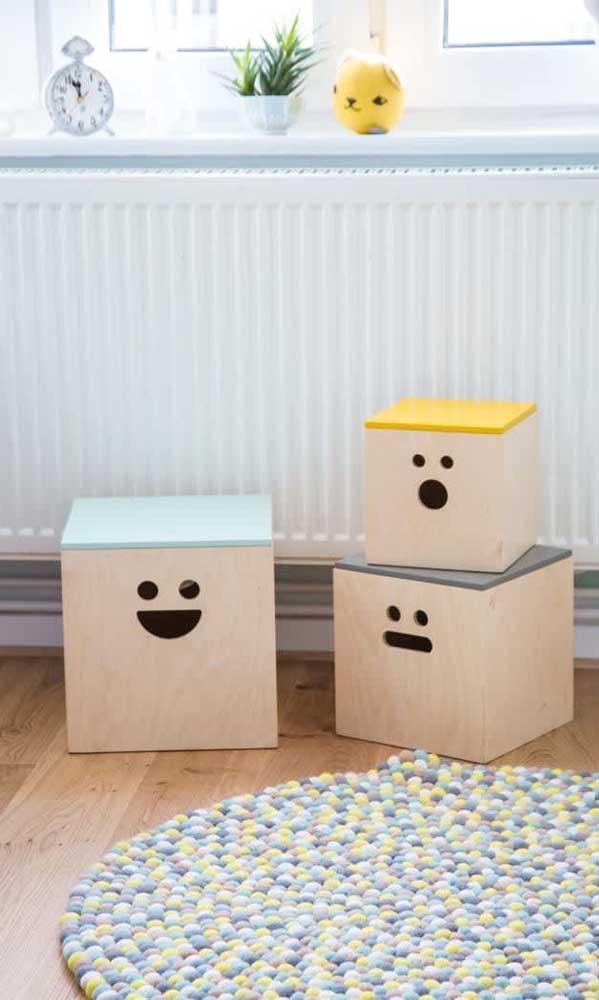 Crie objetos lúdicos para as crianças se divertirem.
