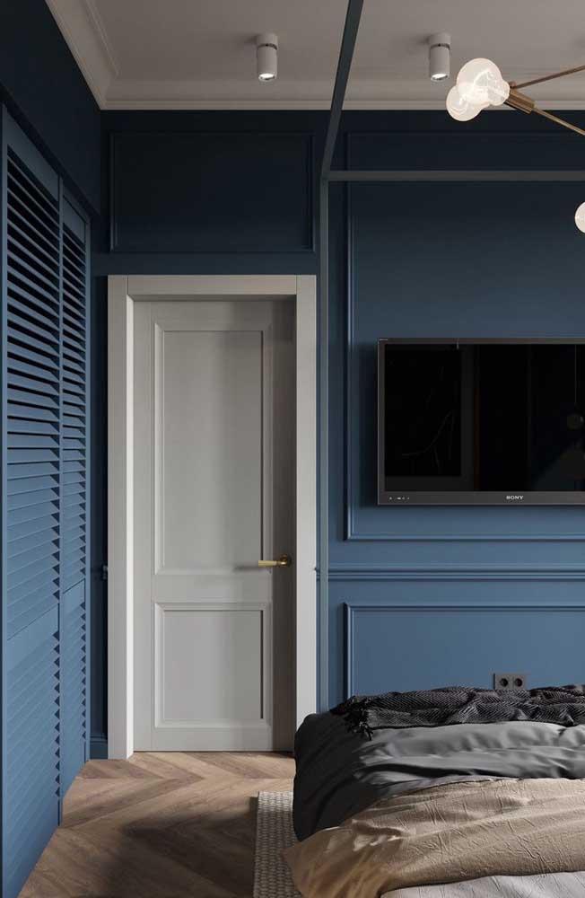 A moldura Boiserie deixa qualquer parede mais elegante e sofisticada.