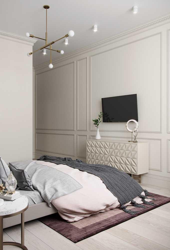 Se você deseja ter uma decoração mais minimalista, pode apostar no Boiserie.
