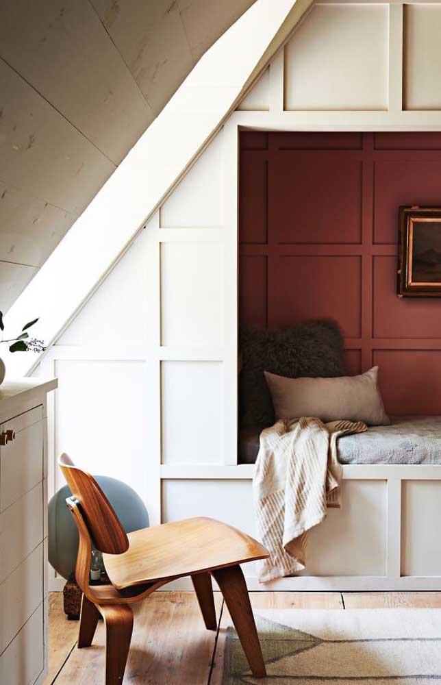 Ou na parede inteira para combinar com a decoração.