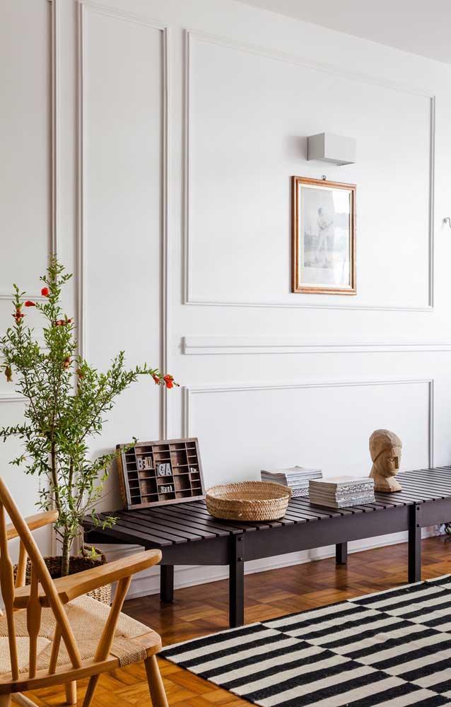 O acabamento perfeito é fundamental para a moldura Boiserie.