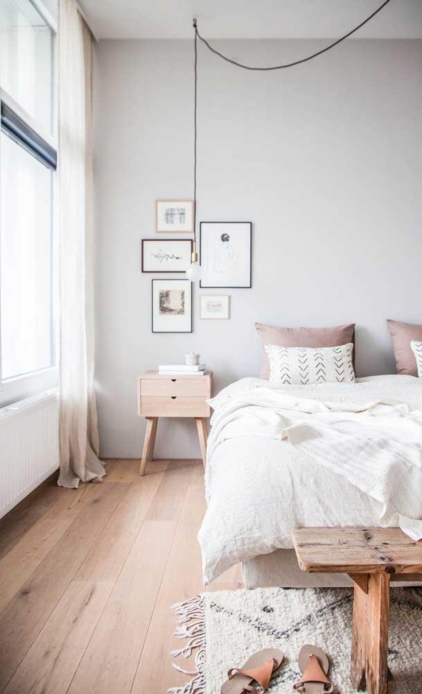 Que tal escolher móveis de madeira para combinar com o piso?