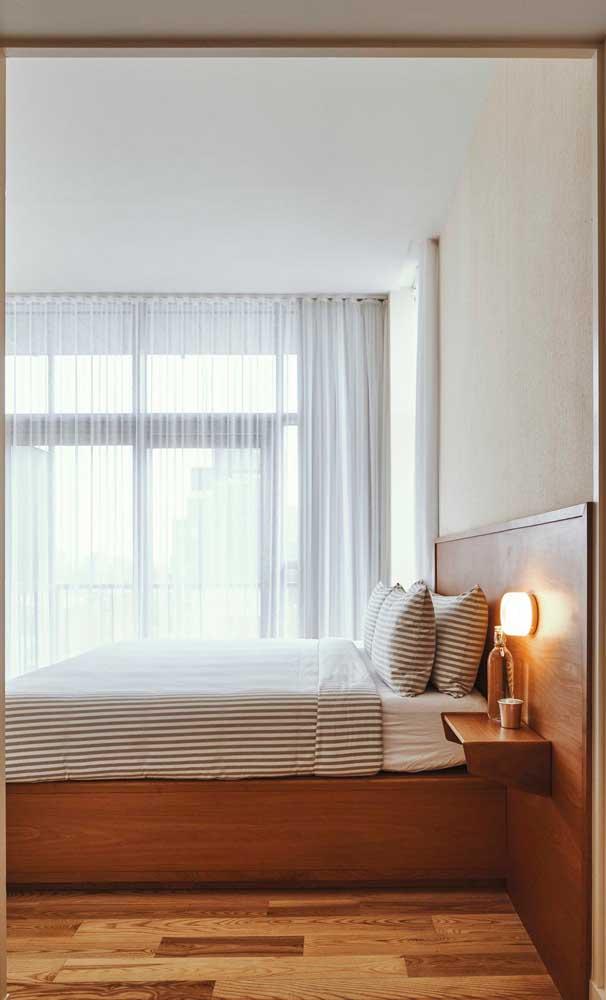 O carpete de madeira é um isolante térmico, deixando qualquer ambiente com o clima perfeito.