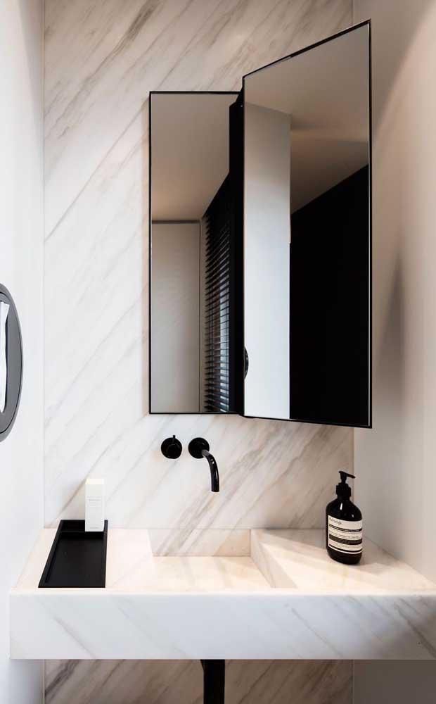 Que tal usar a bancada como cuba para banheiro?
