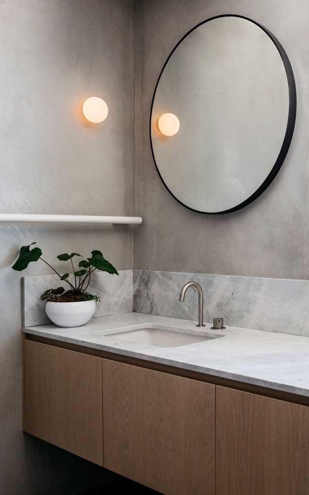 Que tal escolher um gabinete para banheiro com cuba?
