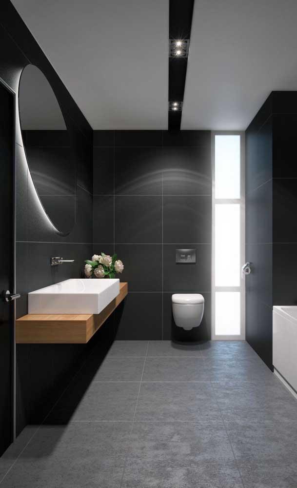 Se você tem um banheiro bem espaçoso, pode apostar na cuba para banheiro retangular.