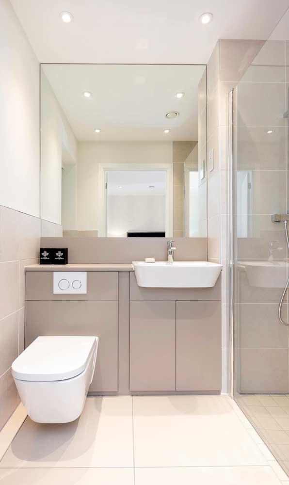 É impressionante como a cuba para banheiro dá outro cara para o ambiente.