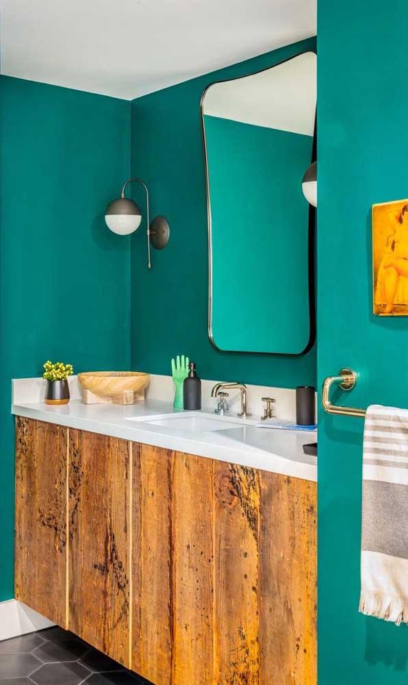 A escolha do gabinete pode fazer total diferença na decoração do banheiro.